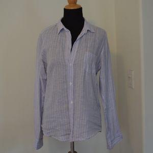 Frank & Eileen Blue Linen Women's Button Shirt